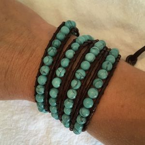 Fun Turquoise Beaded Wrap Bracelet